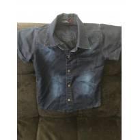 Camisa Jeans manga curta tamanho 4 - 4 anos - DUDYS BOY