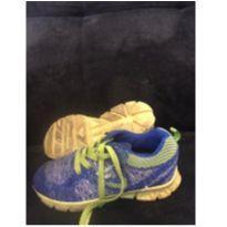 Tenis Ortope azul com verde limão tamanho 30 - 30 - Ortopé