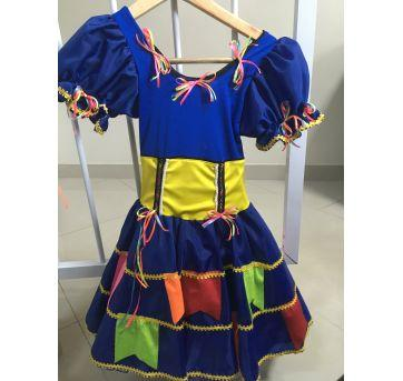 Vestido Caipira chick - Sem faixa etaria - Festa Junina