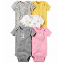 Kit Body Carters 5 Peças Original Feminino - 9 meses - Carter`s e carter`s, baby gap, zara