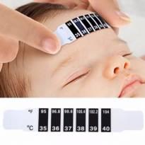 Termômetro Adesivo Infantil Reutilizável - kit Com 10unidades -  - Importado