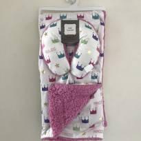 Cobertor De Bebê Com Apoio Para A Cabeça Coroa Luxo Real -  - Importado