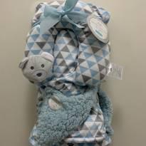 Cobertor de bebê dupla face com apoio a cabeça - Sem faixa etaria - Importada
