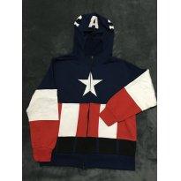 Blusão de moleton, Capitão América!!! - 10 anos - Sem marca