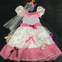 Vestido Noivinha Caipira ! - 5 anos - Sem marca