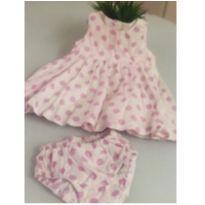Vestido para bebê luxo Saída maternidade luxo menina Vestido mesversário - 3 a 6 meses - PUC