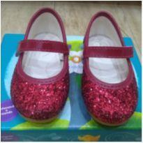 Sapato boneca glitter vermelho Pimpolho - 20 - Pimpolho
