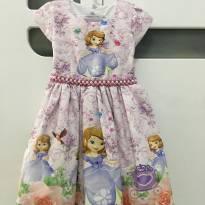 Vestido Tema Princesa Sofia 12-18 Meses - 1 ano - Nacional