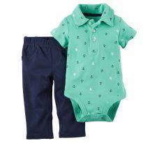 Camisa + Calça Carter`s Tema Náutico (6 Meses) - 6 meses - Carter`s