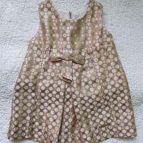 Vestido de festa dourado de bolinhas - 9 meses - Chicco