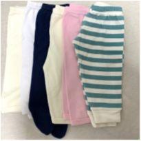 Lote 6 calças de 0 a 3 meses - 0 a 3 meses - Outras