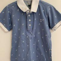 Blusa polo azul - 2 anos - BD and Co