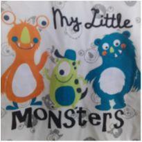 Blusa Pequenos Monstrinhos - 9 a 12 meses - Brandili