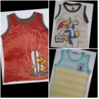 Kit com 3 Camisetas Regatas Marisol e Brandili - 2 anos - Marisol e Brandili