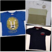 Kit com 3 Camisetas Leão, bolinhas e Surf. - 9 a 12 meses - ZigMundi e G-91 By Gant`s