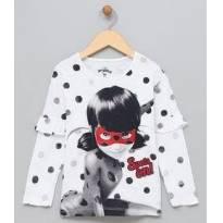 Blusa Infantil com Estampa Ladybug - 4 anos - Miraculous