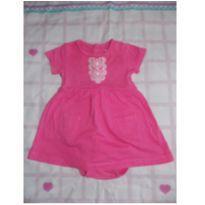 Body rosa vestido carter´s - 6 meses - Carter`s