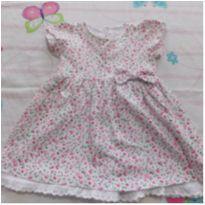 vestido básico floral - 6 a 9 meses - Basic + Baby