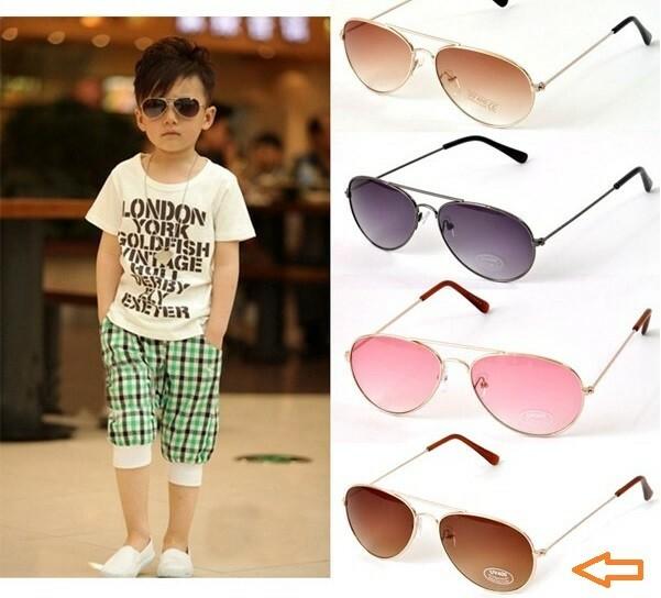 7d936834c76c9 Óculos de Sol Infantil!! Ray Ban modelo Aviator - Cor  Fumê (Brown ...