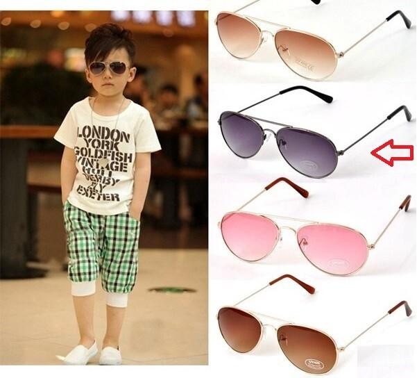 5addd4a09 Óculos de Sol Infantil!! Ray Ban modelo Aviator - Cor: Cinza (Gray ...
