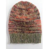 Gorro em Lã Mesclado em Verde para Inverno - Sem faixa etaria - Artesanal