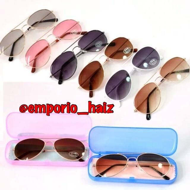 c03c1294d Óculos de Sol Infanti, Ray Ban modelo Aviator, cor: Fumê/Marrom no ...