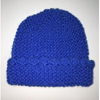 Touca / Gorro de Lã - Azul - 6 meses - Artesanal