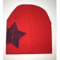 Gorro / Touca com Estrela - Vermelho - Único - Importada