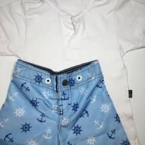 Conjunto de Verão - Camisa Polo e Bermuda Surfista - 18 meses - Hering e Força do Mar