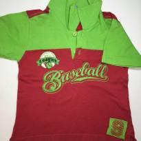 Camisa Polo Vermelha e Verde - 2 anos - Bambini