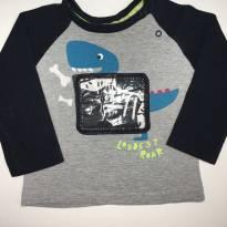 Camiseta Bicolor Dino - 9 meses - Toys & Kids