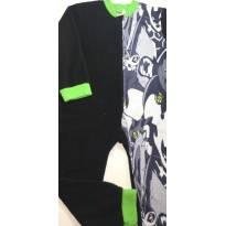 Macacão Pijama Fleece/Soft do Ben 10 (s/pezinho) - 6 anos - Ben 10