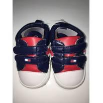 Tênis (estilo Tommy Hilfiger) c/Velcro e Courino - Marinho e Vermelho - 18 - Importada