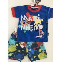 Conjunto de Primavera/Verão - Marinheiro - Tamanho M - 6 a 9 meses - brincar é arte
