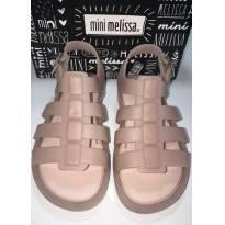 Mini Melissa Flox - Nude Rosé (leitosa) - 23 - Melissa