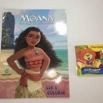 Livro Ler e Colorir da Moana + Lápis de Cor! -  - Não informada