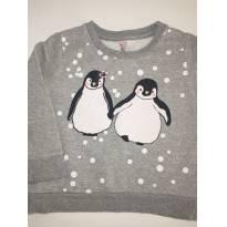 Blusa de Moletom - Casal de Pinguins!! - 1 ano - Tex