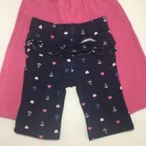 Kit c/2 calças Carter's e Vicky Lipe - 3 meses - Carter`s e VICKY LIPE