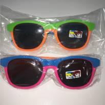 Óculos de Sol Infantil Bicolor -  ARMAÇÃO: Rosa/Azul/Laranja -  - Importada