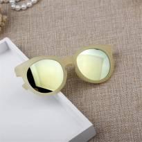 Óculos de Sol Infantil - ARMAÇÃO: Amarelo Transparente Fosca com a Lente Azulada -  - Importada