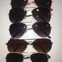 Óculos de Sol Infantil Aviador - ARMAÇÃO: Branca -  - Importada