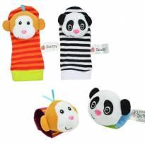 Kit de 4 pçs, de meias e pulseiras interativas em cores vibrantes - PANDA