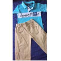 Conjunto c/2 peças - Camisa Polo +Bermudão - 2 anos - brincar é arte e D. Tonetti