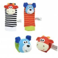 Kit de 4 pçs, de meias e pulseiras interativas em cores vibrantes - VACA/DOG -  - Sozzy