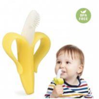 Mordedor e Escova Bananinha em SILICONE -  - Importada