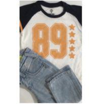 Conjunto c/2 peças - Calça Jeans + T-Shirt - 2 anos - Boys Collections e Pool Kids