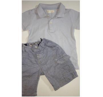 Conjunto c/2 peças - Polo + Short - 24 a 36 meses - Zara Baby e Baby Club