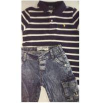 Conjunto c/2 peças - Polo Ralph Lauren + Short Jeans - 3 anos - Ralph Lauren e Baby Club