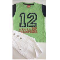 Conjunto c/2 peças - T-shirt + Bermuda Saruel - 3 anos - Trenzinho e VLCS