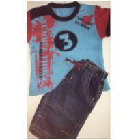 Conjunto c/2 peças - T-shirt + Short Jeans - 3 anos - Toys & Kids